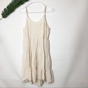 Love tree strappy open back apron ruffle dress